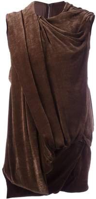 Rick Owens draped effect sleeveless top