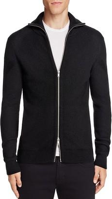 Theory Ronzons Merino Wool Zip Cardigan Sweater $325 thestylecure.com