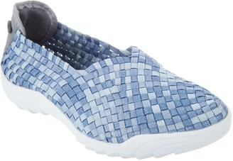 Bernie Mev. Basket Weave Slip On Shoes - Rigged Fly