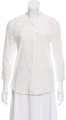 Boy By Band Of Outsiders Silk Button-Up Top