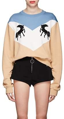 Off-White Women's Twisting Horses Cotton Fleece Sweatshirt