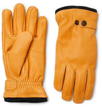 Hestra - Utsjo Fleece-Lined Full-Grain Leather Gloves - Men - Yellow