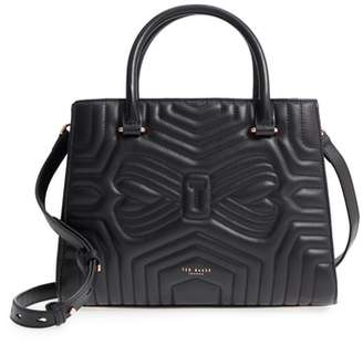Ted Baker Quilted Bow Leather Tote