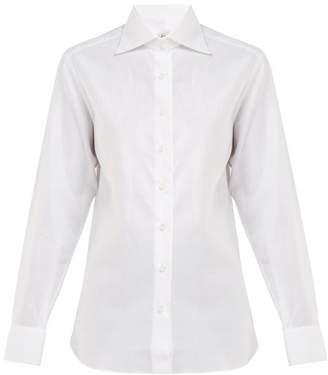 Giuliva Heritage Collection Elvira Cotton Oxford Shirt - Womens - White