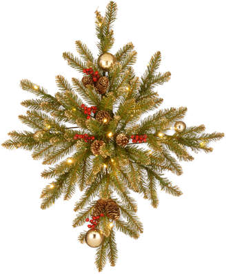 Dunhill National Tree Company 32In Gold Fir Bethlehem Star W/ 35 Warm White Battery Operated Led Lights