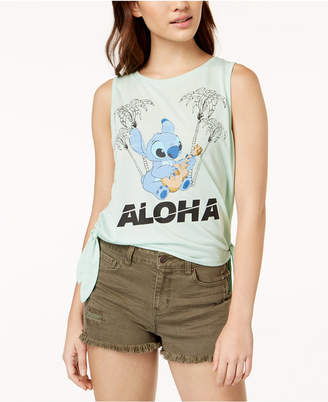 Freeze 24-7 Juniors' Stitch Aloha Side-Tie T-Shirt