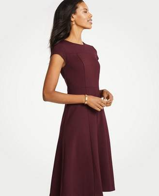 Ann Taylor Tall Seamed Ponte Flare Dress