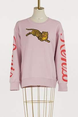 Kenzo Cotton jumping tiger sweatshirt