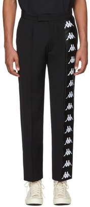 Faith Connexion Black Kappa Edition Logo Trousers