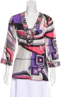 Emilio Pucci Silk-Blend Printed Top