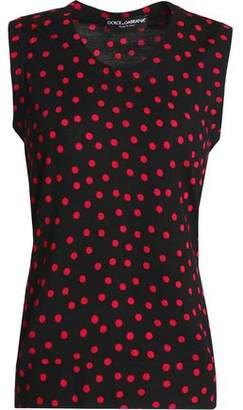 Dolce & Gabbana Polka-Dot Wool Top