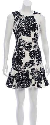 Rebecca Taylor Floral Print Mini Dress