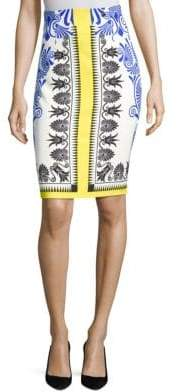Versace Print Bodycon Skirt