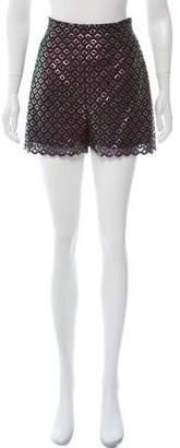 Stella McCartney Metallic Crochet Shorts