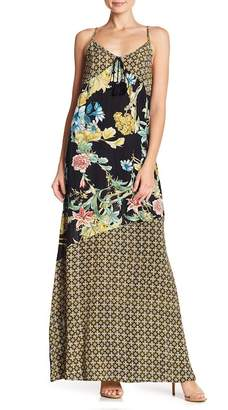 Band of Gypsies Tropical Mixed Print Maxi Dress