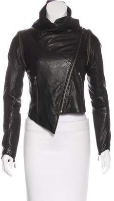 Doma Asymmetrical Leather Jacket