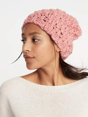 Old Navy Textured Basket-Weave Beanie for Women