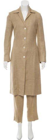 Dolce & GabbanaDolce & Gabbana Notch-Lapel Straight-Leg Pantsuit