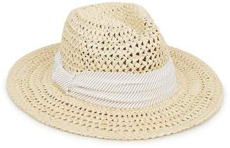Hat Attack Cane Beige Weave Rancher Hat