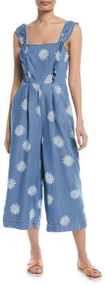 Splendid Dolce Floral Chambray Wide-Leg Jumpsuit