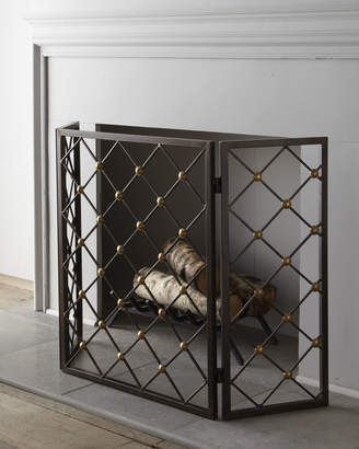 Horchow Button Fireplace Screen