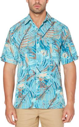 Cubavera Abstract Tropical Print Shirt