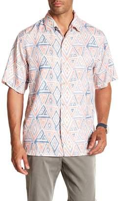 Tommy Bahama Trio Geo Print Short Sleeve Original Fit Shirt