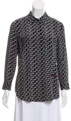 Kate Moss x Equipment Printed Silk Blouse