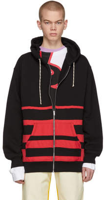 Marni Dance Bunny Black and Red Striped Hoodie