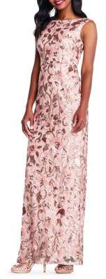 Adrianna Papell Sleeveless Sequin Gown