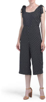 Polka Dot Jumpsuit With Bows