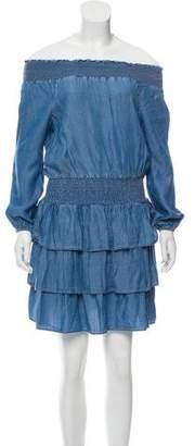 MICHAEL Michael Kors Ruffle Denim Dress