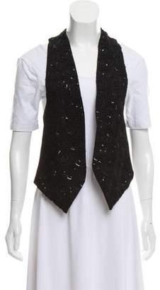 Ann Demeulemeester Silk Open Front Vest