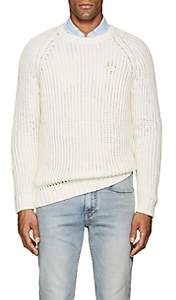 Barneys New York Men's Cotton-Alpaca Crewneck Sweater-Ivorybone
