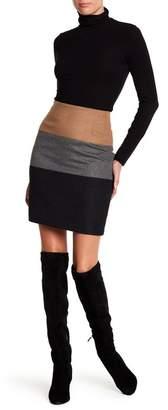 Amanda & Chelsea Brushed Colorblock Miniskirt
