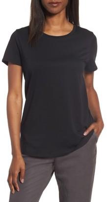 Women's Eileen Fisher Organic Cotton Crewneck Tee $88 thestylecure.com