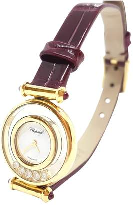 Chopard Vintage Happy Diamond Burgundy Yellow gold Watches
