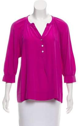 Joie Silk Three-Quarter Sleeve Top