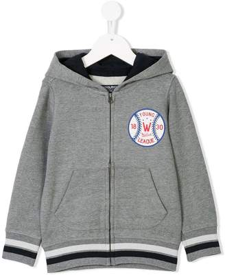 Woolrich Kids Young League zip front hoodie