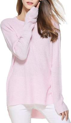 Fashionable LemonGirl Women's Long Sleeve Knitted Loose Pullover Sweater