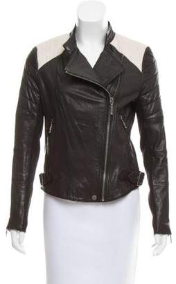 BCBGMAXAZRIA Leather Moto Jacket