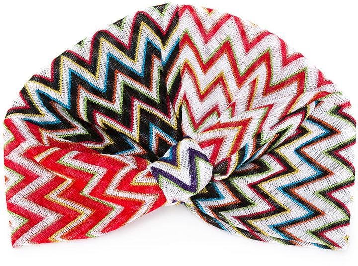 MissoniMissoni metallic crochet knit turban