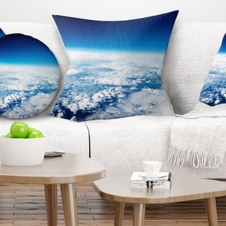 East Urban Home Landscape Stunning View from Airplane Pillow East Urban Home