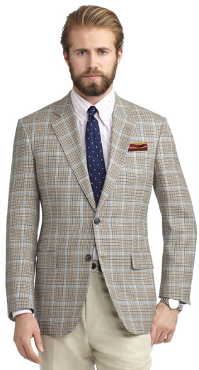 Brooks Brothers Madison Fit Two-Button Bold Deco Sport Coat