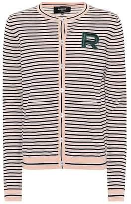 Rochas Striped cotton cardigan