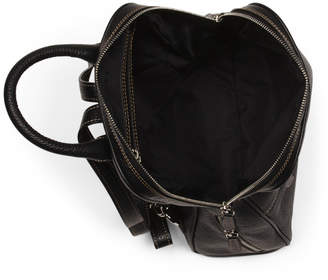 Made In Italy Square Top Leather Backpack