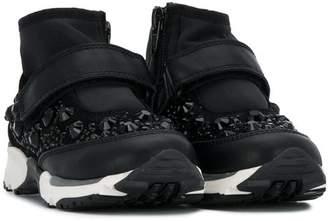 Ermanno Scervino embellished strapped sneakers