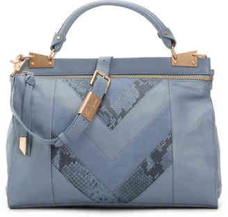 Women's Foley + Corinna Dione Cerberus Leather Satchel -Blue $398 thestylecure.com