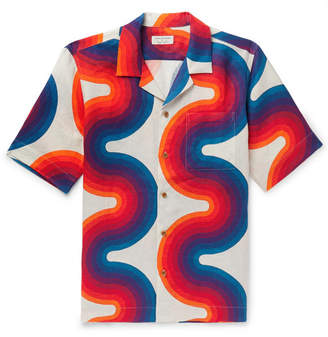 Dries Van Noten Camp-Collar Printed Linen Shirt