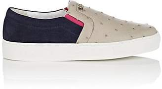 Swear London Women's thedrop@barneys: Women's Maddox Ostrich & Suede Sneakers - Navy